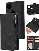cheap -Case For Google Pixel 3a XL Pixel 3a Pixel 4a 4XL Card Holder Flip Magnetic Full Body Cases Solid Colored PU Leather