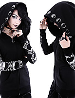 cheap -Plague Doctor Goth Girl Gothic Goth Subculture Party Costume Masquerade Women's Costume Black Vintage Cosplay Club Bar Long Sleeve / Top / Top