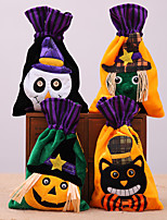 cheap -Halloween Party Toys Halloween Gift Bags Trick or Treat Brushed Cloth Bags 4 pcs Skull Skeleton Pumpkin Cartoon Witch Nonwoven Kid's Adults Trick or Treat Halloween Party Favors Supplies
