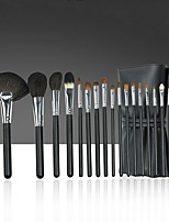 cheap -18 Pcs Animal Hair Makeup Brushes Wooden Handle Imitation Ebony Beauty Student Professional Makeup Brush Set