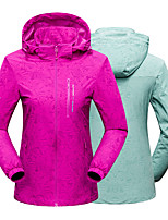 cheap -Women's Hiking Jacket Winter Outdoor Solid Color Thermal Warm Waterproof Windproof Breathable Jacket Single Slider Hunting Climbing Camping / Hiking / Caving Purple / Light Green / Fuchsia / Light
