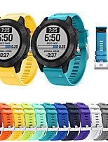 cheap -Quick Release Watch Band for Garmin Fenix 6 Pro / Fenix 5 Plus / Forerunner 945 / 935 / Approach S60 / Quatix 5 Sport Silicone Bracelet Wrist Strap Wristband