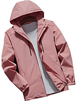 cheap -Women's Windbreaker Hiking Jacket Outdoor Thermal Warm Windproof Breathable Soft Jacket Top Camping / Hiking Hunting Climbing Black / Pink / Rose Red