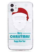 cheap -Case For Apple iPhone 12 Ultra thin Transparent Back Cover Christmas TPU iPhone SE 2020 11 Pro Max iPhone XS Max XR 7 8 Plus 6s 6 Plus
