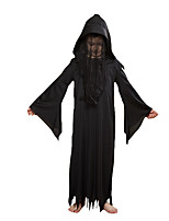 cheap -Ghost Cosplay Costume Party Costume Kid's Boys' Cosplay Halloween Halloween Festival / Holiday Polyester Black Easy Carnival Costumes / Leotard / Onesie / Leotard / Onesie