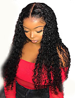 cheap -Synthetic Wig Curly Afro Curly Middle Part Wig Long Black Synthetic Hair 26 inch Women's Fashionable Design Easy to Carry Middle Part Black