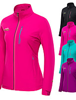 cheap -Women's Hiking Windbreaker Outdoor Solid Color Thermal Warm Waterproof Windproof Breathable Jacket Hunting Fishing Climbing Black / Purple / Fuchsia / Green / Rose Red / Quick Dry / Quick Dry