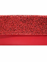 cheap -womens pu leather envelope clutch bag for women evening handbags shoulder bags (red)