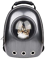 cheap -pet carrier capsule portable bubble carrier waterproof transparent breathable space capsule backpack for dog cat puppy animals outdoor travel walking-black