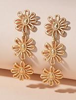 cheap -Women's Drop Earrings Geometrical Petal Romantic Earrings Jewelry Gold For Birthday Festival