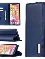 cheap -Case For Apple iPhone 12 / iPhone 12 Mini / iPhone 12 Pro Max Card Holder / Flip / Magnetic Full Body Cases Solid Colored Genuine Leather