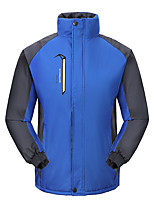 cheap -Men's Hiking Jacket Winter Outdoor Thermal Warm Waterproof Windproof Breathable Jacket Full Length Hidden Zipper Climbing Camping / Hiking / Caving Traveling Red / Blue / Orange / Green