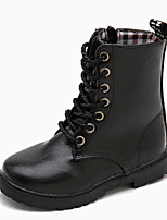 cheap -Boys' Boots Combat Boots Synthetics Lace up Little Kids(4-7ys) / Big Kids(7years +) Walking Shoes Black Spring / Fall / Mid-Calf Boots