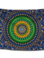 cheap -Wall Tapestry Art Decor Blanket Curtain Picnic Tablecloth Hanging Home Bedroom Living Room Dorm Decoration Polyster Bohemia Colorful Round Mandala Beauty Views