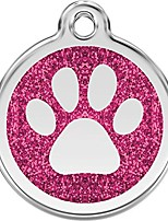 cheap -personalized glitter paw pet id dog tag (large hot pink)
