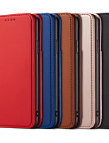 cheap -Case For Apple iPhone 11  Wallet / Shockproof / Dustproof Full Body Cases Solid Colored PU Leather For Case iphone 11 Pro/11 Pro Max/7/8/7P/8P/SE 2020/X/Xs/Xs MAX/XR