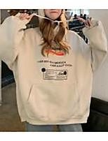 cheap -Women's Pullover Hoodie Sweatshirt Letter Front Pocket Basic Hoodies Sweatshirts  White Wine