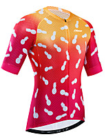 cheap -21Grams Women's Short Sleeve Cycling Jersey Summer Red / Yellow Bike Jersey Top Mountain Bike MTB Road Bike Cycling UV Resistant Breathable Quick Dry Sports Clothing Apparel / Stretchy / Race Fit