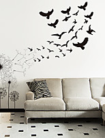 cheap -Animals / Botanical Wall Stickers Dandelion Flying Bird Wall Stickers Decorative Wall Stickers PVC Home Decoration Wall Decal Wall / Window Decoration 1pc