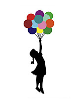 cheap -DIY Creative Stickers Little Girls Color Balloon Door PVC Graffiti Wall Stickers