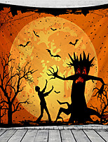 cheap -Halloween Wall Tapestry Art Decor Blanket Curtain Picnic Tablecloth Hanging Home Bedroom Living Room Dorm Decoration Psychedelic Skull Skeleton Pumpkin Bat Witch Haunted Scary Polyester