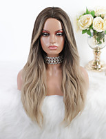 cheap -Cosplay Costume Wig Synthetic Wig Ombre Body Wave Silky Wavy Middle Part Wig Long Ombre Blonde Synthetic Hair 26 inch Women's Heat Resistant Party Fashion Brown Mixed Color EMMOR / Ombre Hair