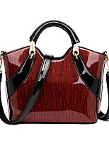 cheap -Women's Bags PU Leather Top Handle Bag Zipper for Daily / Date Sillver Gray / Red / Blushing Pink