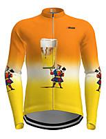 cheap -21Grams Men's Long Sleeve Cycling Jersey Orange Cartoon Bike Jersey Top Mountain Bike MTB Road Bike Cycling Quick Dry Sports Clothing Apparel / Micro-elastic