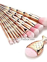 cheap -11 pcs trendy mermaid unicorn horn makeup brush set big fish tail foundation powder face eyeshadow make-up brushes women beauty cosmetic tools