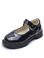 cheap -Girls' Flats Comfort / Flower Girl Shoes / School Shoes Leather Little Kids(4-7ys) / Big Kids(7years +) Buckle White / Black / Pink Spring / Fall / Party & Evening / Rubber
