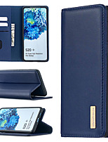 cheap -Case For Samsung Galaxy A10 A10E A20 A20E M10 A30 A40 A50 A70 S10 S10E S10Plus S20 S20Plus S20Ultra Card Holder Shockproof with Stand Full Body Cases Solid Colored Genuine Leather TPU