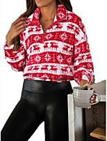 cheap -Women's Daily Pullover Sweatshirt Graphic Christmas Hoodies Sweatshirts  Loose Red