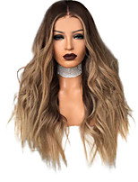 cheap -Synthetic Wig Curly Loose Curl Middle Part Wig Very Long Brown / Burgundy Synthetic Hair 28 inch Women's Cool Ombre Hair Brown