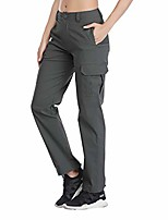 cheap -women's hiking cargo pants stretch lightweight casual tactical outdoor fishing camping trousers y50-grey-l