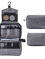 cheap -travel toiletry bag, small toiletries organizer waterproof shaving dopp kit hanging for men and women (gray)