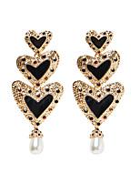 cheap -Women's Drop Earrings Earrings Dangle Earrings Heart Sweet Heart Punk Trendy Romantic Cute Gypsy Imitation Diamond Earrings Jewelry Black For Gift Date Street Beach Festival