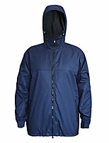cheap -waterproof insulated jacket for men women sailing fishing rain coat crew midlayer fleece lined breathable windproof(navy, xxl)