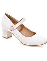 cheap -Women's Heels Wedge Heel Square Toe Classic Daily Pearl Solid Colored PU Camel / White / Black