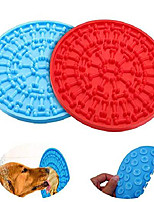 cheap -2pc dog lick pad, dog washing distraction device for dogs bathing grooming, slow feeder dog licking mat with super suction to wall for pet bathing, grooming, and dog training (blue +red)