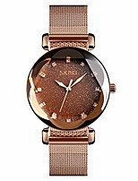 cheap -women's fashion starry sky watch - luxury analog stardust watches for women casual luminous ladies wrist watch with stainless steel mesh band dress watch