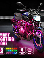 cheap -Motorcycle/Car Atmosphere Light 4/5/6/8/10/12 PCS 6SMD 36 LED with Wireless Remote Control Smart Brake Lights Moto Decorative Strip Neon Lamp Kit