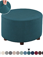 cheap -Ottoman Slipcovers Round Footrest Sofa Slipcovers Footstool Protector Covers Stretch Fabric Storage Ottoman Covers, High Spandex Slipcover Machine Washable