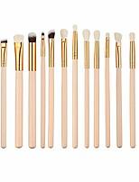 cheap -12 pieces makeup brush set professional face eye shadow eyeliner foundation blush lip makeup brushes powder liquid cream cosmetics blending brush tool (pink)