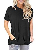 cheap -women's shirts for women black baggy tops pocket t shirt