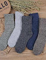 cheap -Men's Warm Socks - Solid Colored Multi color One-Size