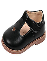 cheap -girls' cute t-strap oxfords shoes mary jane flats school uniform dress shoes black size 11.5m