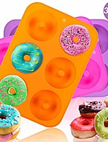cheap -3pcs donut pan mold, silicone cake bagel baking doughnuts mold,tray measures 10x7 inches