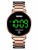 cheap -men's watch, waterproof digital sports watch touch screen stailesd steel wrist watch