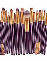 cheap -20pcs fashion make up brush set, professional makeup brushes kits cosmetic tools kit valentine gift (purple + gold)