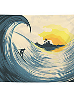 cheap -Wall Tapestry Art Decor Blanket Curtain Picnic Tablecloth Hanging Home Bedroom Living Room Dorm Decoration Polyester Island Surf Beauty Views